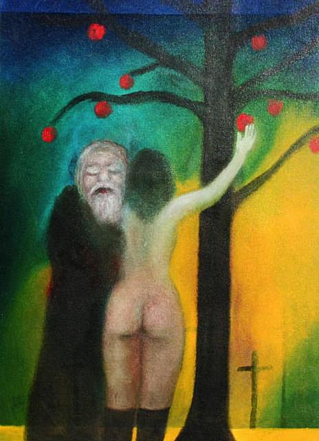 , 'Old man and rear view of nude girl under apple tree,' 1998, The Noble Sage Collection