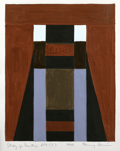, 'Study for a painting No. 2 (1),' 1990, Leon Tovar Gallery