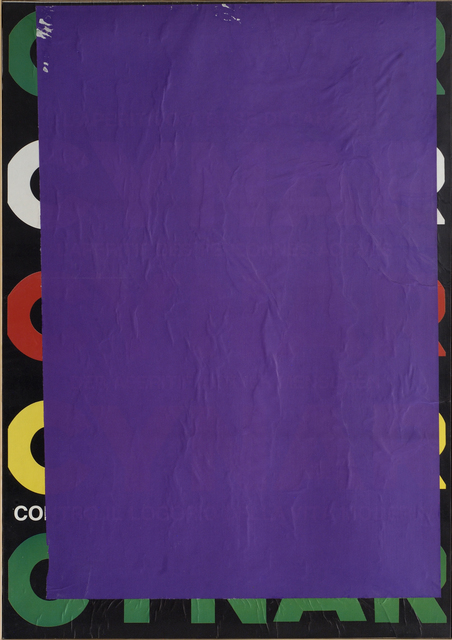 , 'Blank C blu violet,' 1980, CARDI GALLERY