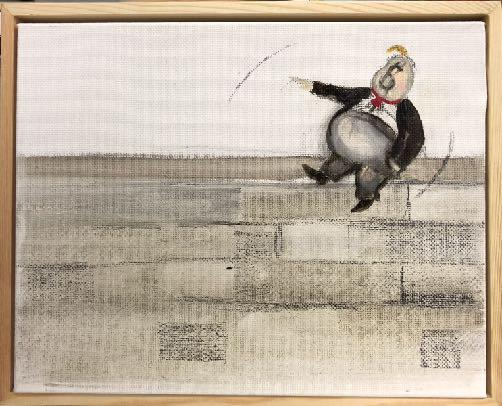 Sandra Ramos, 'Trumpito. Homage to Thomas Nast (Wall)', 2017, Pan American Art Projects