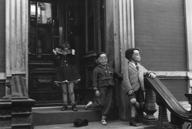 Helen Levitt, 'Kids in Masks on Stoop, New York City, New York', ca. 1942, Robert Klein Gallery