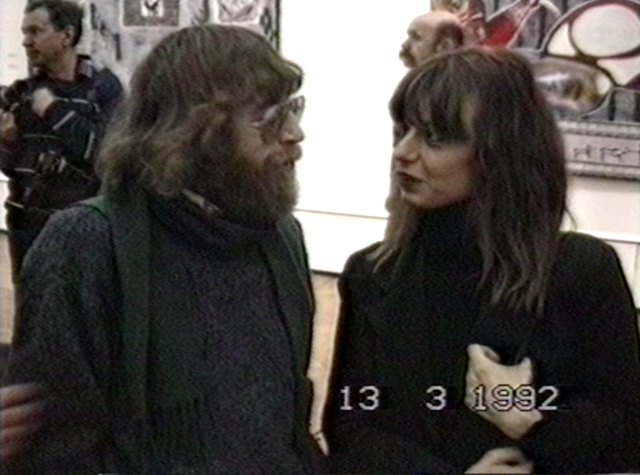, 'Lev Rubinstein and Sabine Haensgen at the opening of Soviet Art around 1990 (Binazionale) at the Central House of Artists, March 13, 1992,' 1992, Garage Museum of Contemporary Art