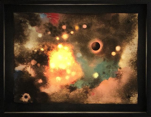 , 'Celestial Red & Green ,' 2016, Elizabeth Clement Fine Art