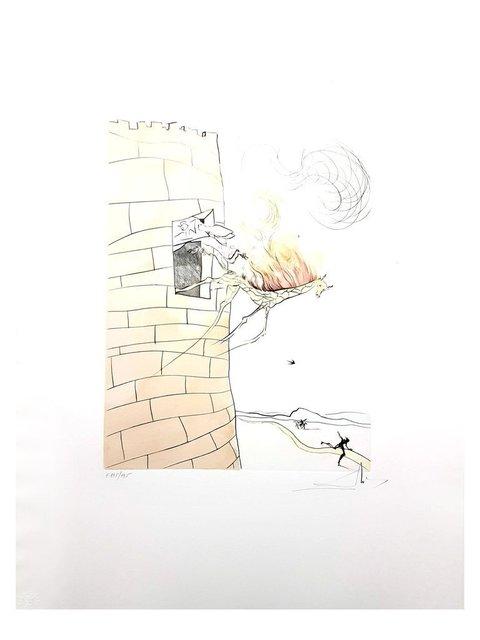 """Salvador Dalí, 'Original Etching """"Fire Girafe"""" by Salvador Dalí', 1974, Galerie Philia"""