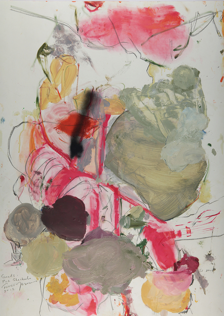 Terrell James, 'Pink Shackles', 2019, Drawing, Collage or other Work on Paper, Paint and ink on stone paper, Jason McCoy Gallery