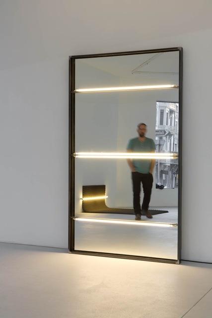 , '1300 - 2200 (réclamer) with mirror,' 2016, Galerie Clemens Gunzer