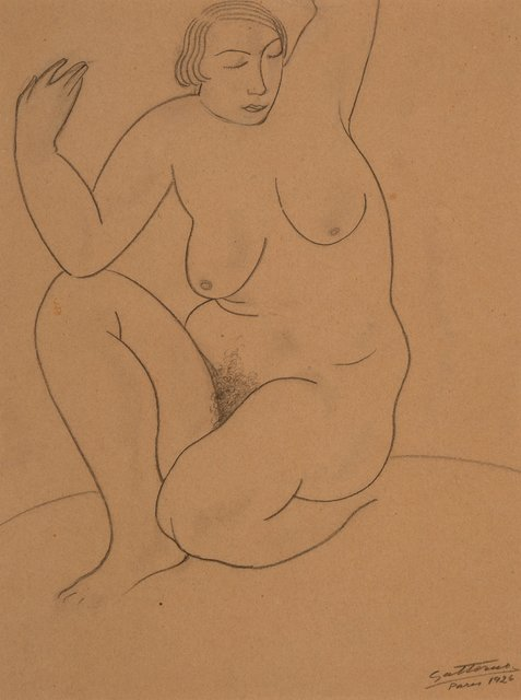 Antonio Gattorno, 'Female Nude Study, Paris', 1926, Heritage Auctions