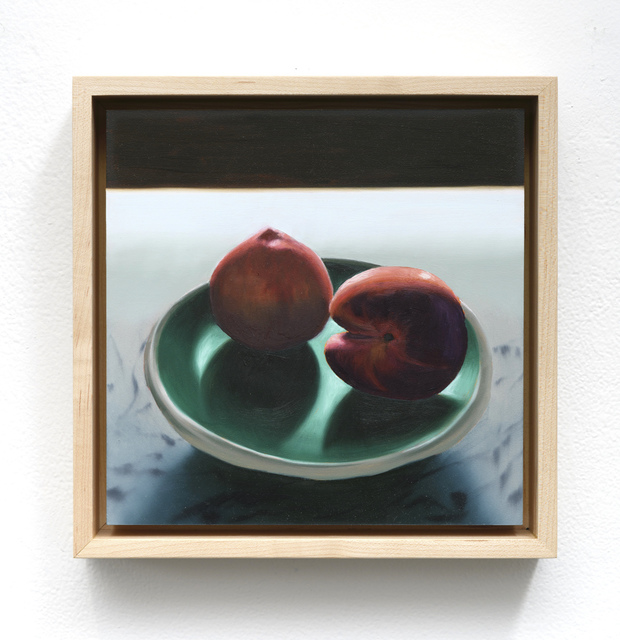, 'Two Peaches on a Plate,' 2019, Leslie Sacks Gallery