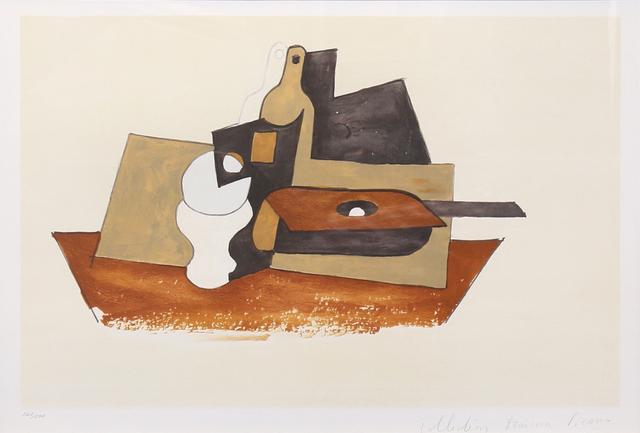 Pablo Picasso, 'Guitare Verre et Bouteille', 1979-1982, Print, Lithograph on Arches paper, RoGallery