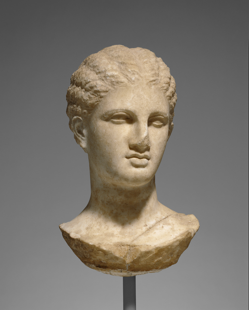 'Head of a Young Woman from a Grave Naiskos', ca. 320 BCE, J. Paul Getty Museum