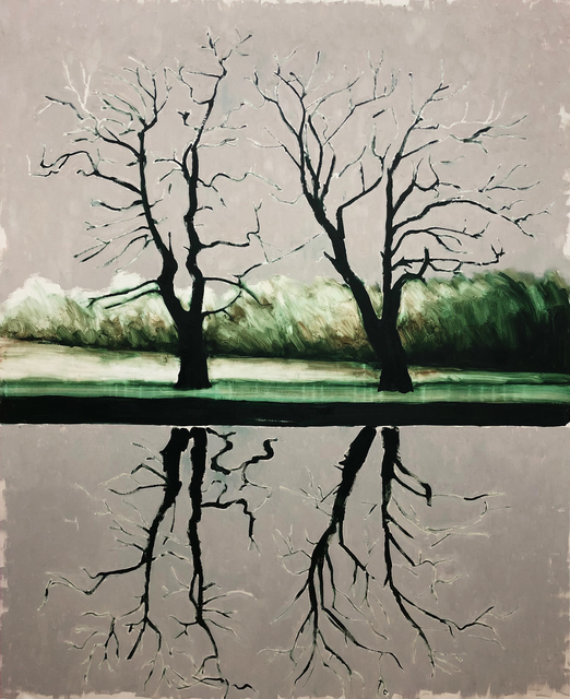 , 'Trees Reflected,' 2019, bo.lee gallery