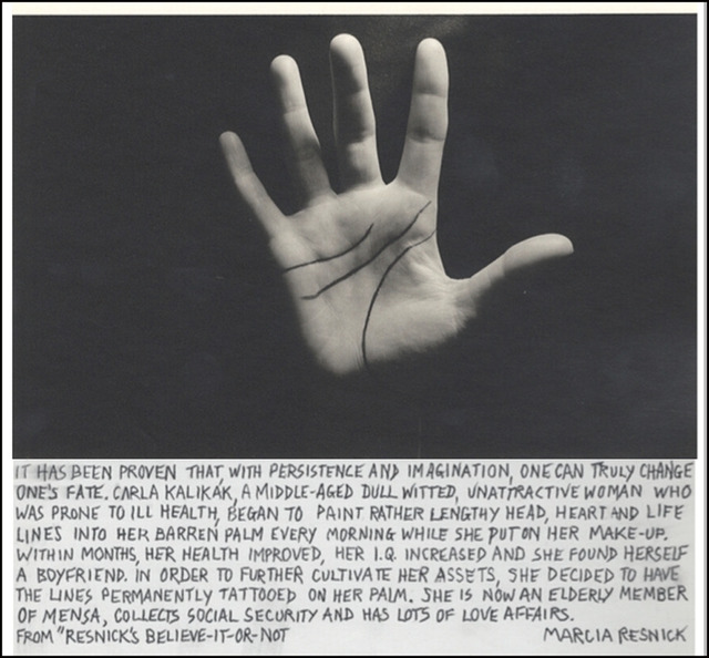 Marcia Resnick, 'Head, Heart and Life Lines', 1979, Paul M. Hertzmann, Inc.