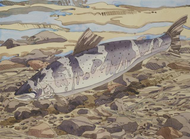 , 'Salmon,' 1977, Alexandre Gallery
