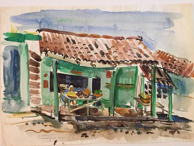 Katherine Librowicz, 'Mexican House with Porch', 20th Century, Lions Gallery