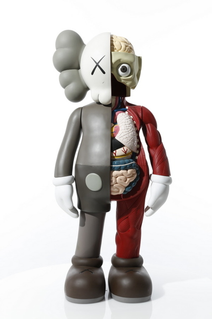 KAWS, '4 FOOT DISSECTED COMPANION (BROWN)', 2009, Sculpture, Fiber-reinforced plastic, Marcel Katz Art