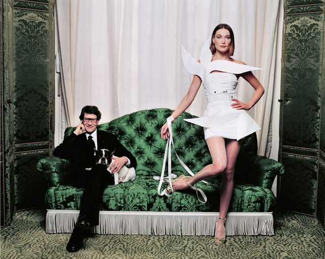 , 'Yves Saint-Laurent and Carla Bruni,' 1998, Photo12 Galerie
