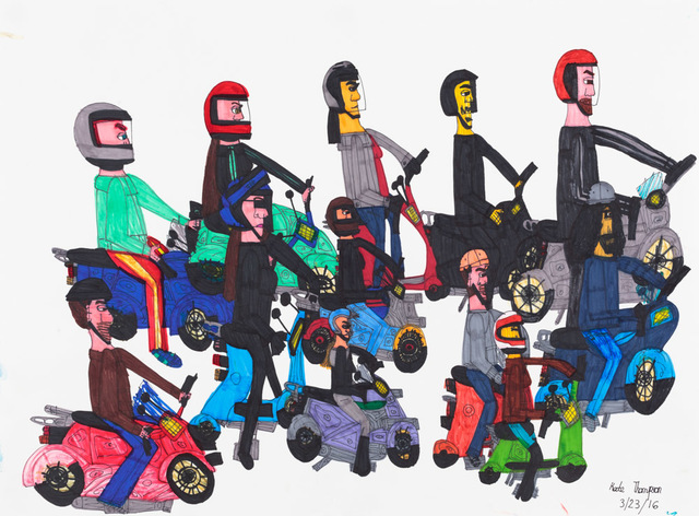 , 'Untitled (Scooters),' 2016, Creativity Explored