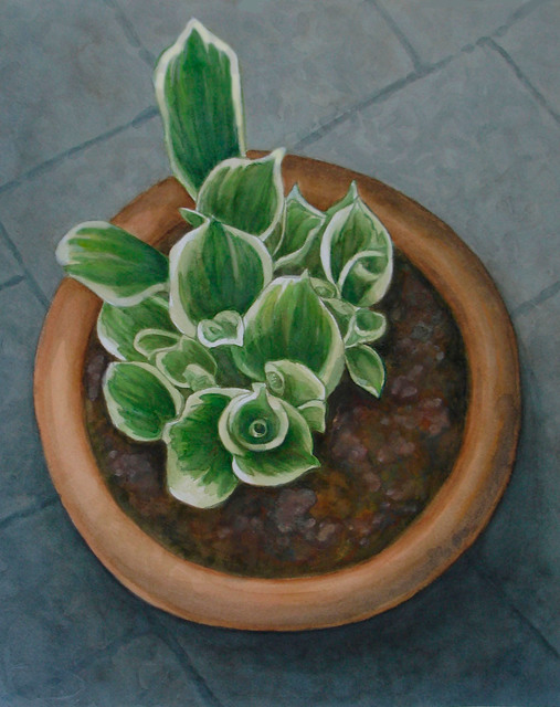 , 'Unfurling Hosta,' 2015, InLiquid