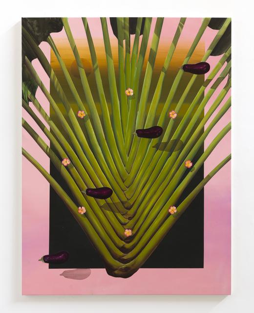 , 'Diagonal com beringelas ,' 2017, Zipper Galeria