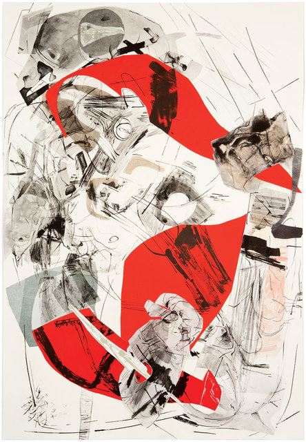 Iva Gueorguieva, 'Rolling Anvil', 2011, Print, 7-color direct gravure with drypoint, lithography, woodblock, silkscreen and chine collé collage elements, Graphicstudio USF
