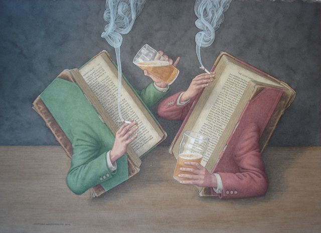 , 'Books Behaving Badly,' 2016, Portal Painters