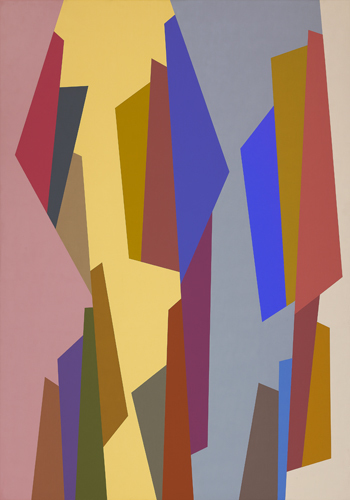 Karl Benjamin, '#7,1988', 1988, Painting, Oil on canvas, Louis Stern Fine Arts