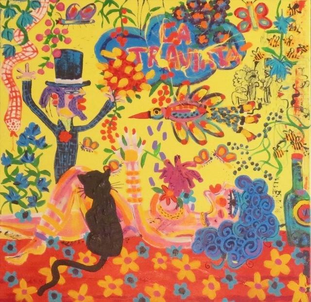 John van Orsouw, 'Violetta', 2019, Painting, Acrylic on Canvas, IAZ Art Gallery