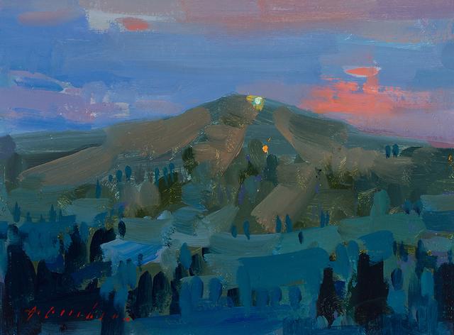 , 'A Ski Lift in Summer at Night,' 2018, Meyer Vogl Gallery