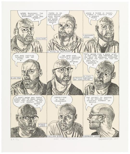 , 'Nine Self-portraits,' 2017, Galerie Ernst Hilger