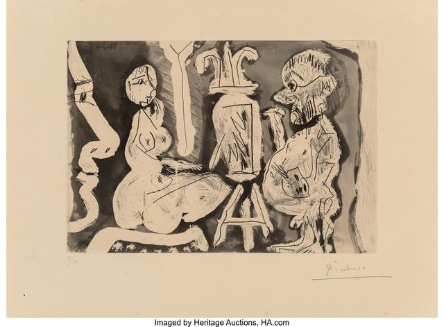 Pablo Picasso, 'Peintre et modèle avec un spectateur', 1965, Heritage Auctions