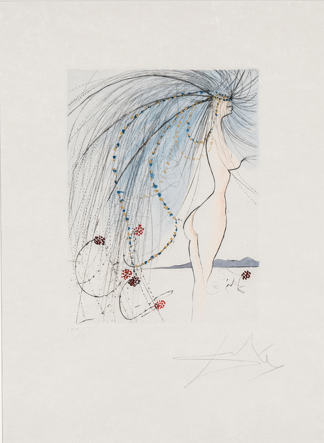Salvador Dalí, 'Diane de Poitiers', 25993, Print, Drypoint with hand-coloring on Japan paper, Skinner