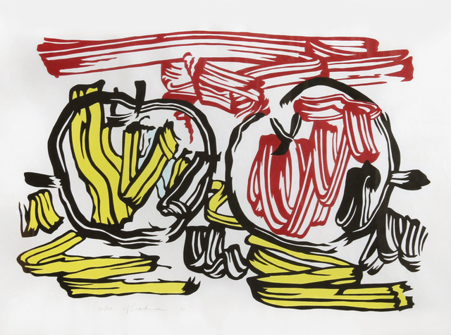 Roy Lichtenstein, 'Red Apple and Yellow Apple from Seven Apple Woodcuts Series (C. 197)', 1983, RoGallery