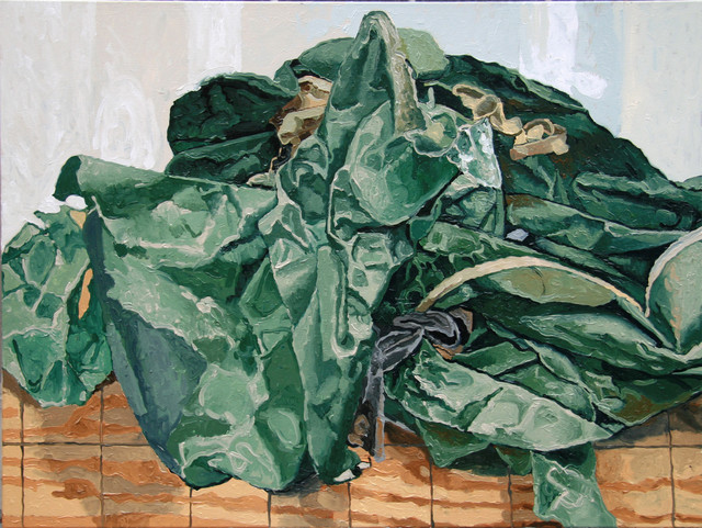 , 'Green Paper,' 2010, The Painting Center