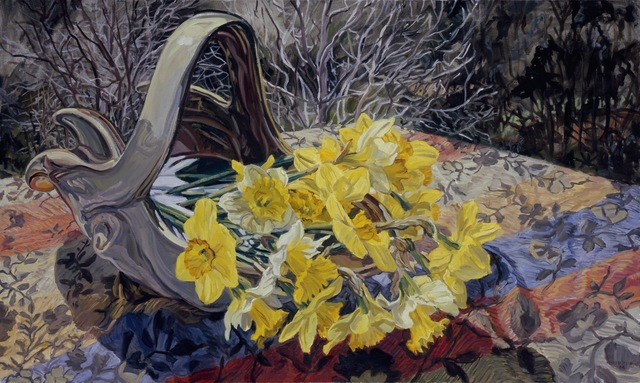 Janet Fish, 'Daffodils/Dark Trees', 2008, DC Moore Gallery