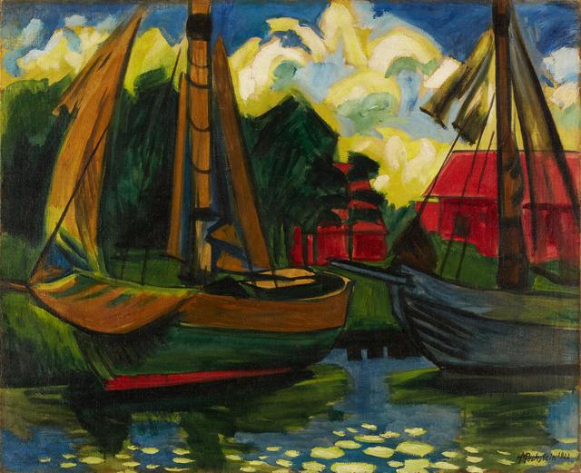 , '»Zwei Kutter im Hafen von Leba«,' 1922, Ludorff