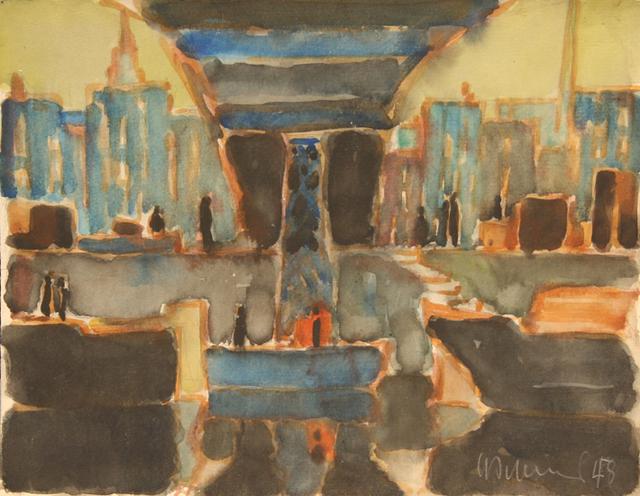 , 'Baumbrucke in Stettin,' , Wallace Galleries