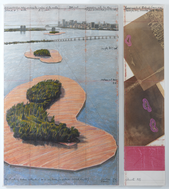 , 'Surrounded Island, Project for Biscayne Bay, Greater Miami,' 1983, Annely Juda Fine Art