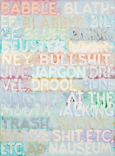 Mel Bochner, 'Babble', 2015, Fraenkel Gallery
