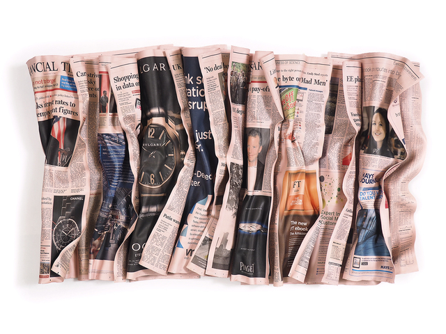 , 'Financial Times 12-13-12,' 2017, Galerie de Bellefeuille