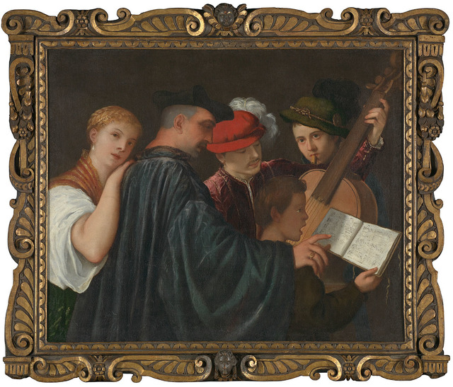 , 'The Music Lesson,' about 1535, The National Gallery, London