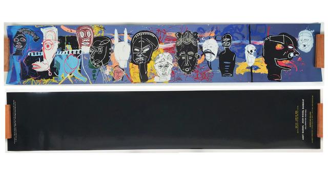 "Jean-Michel Basquiat, '""AFRICAN MASKS"", 2002, Invitation/Poster,  Gagosian Gallery Beverly ', 2002, VINCE fine arts/ephemera"