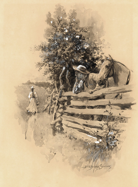 Alice Barber Stephens, 'Country Scene', 1900, The Illustrated Gallery