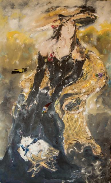 SRĐAN VUKČEVIĆ, 'Portrait with Birds and a Cat', 2017, Museum of Modern Art Dubrovnik