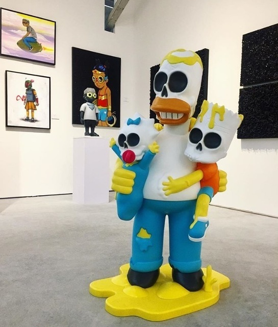 "GONDEKDRAWS ""Matt Gondek"", 'Simpsons Nuclear Family 4ft statue', 2018, Plus"