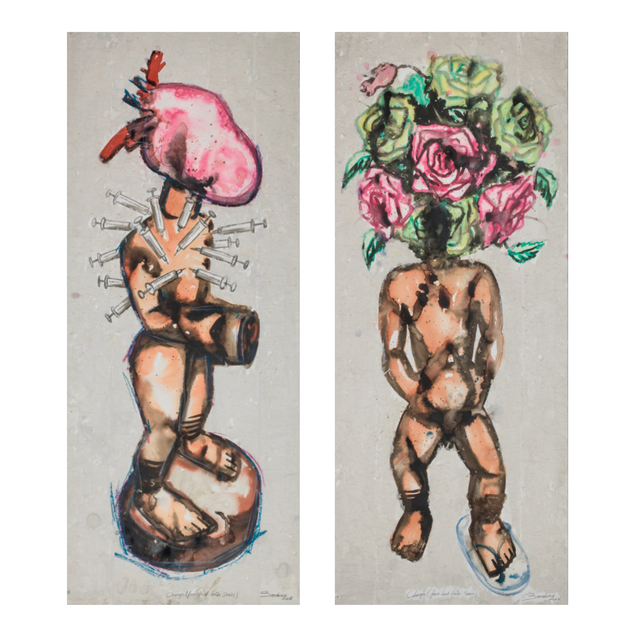Steve Bandoma, 'Charges 3&4 (from the lost tribe series)', 2016, PIASA