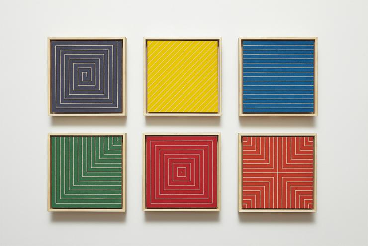 Post painterly abstraction artsy for Minimal art frank stella