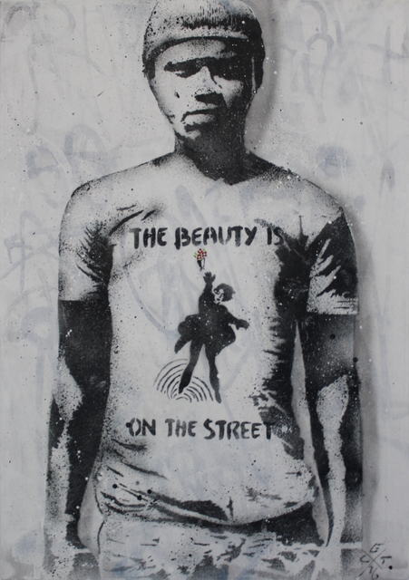 L.E.T., 'The beauty is on the street (canvas)', 2016, MUCA