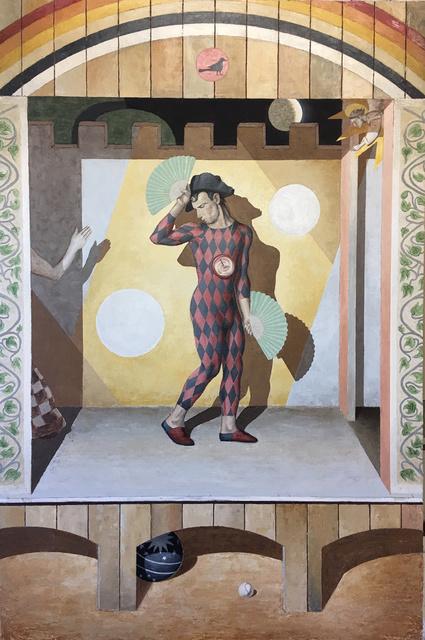 , 'Harlequin with Green Fans,' 2017, Michel Rein Paris/Brussels