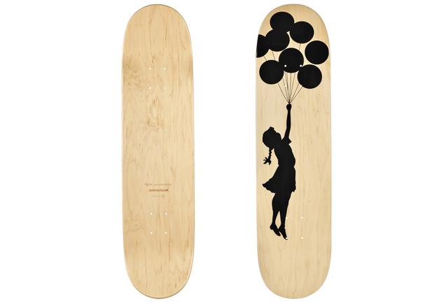 Banksy | Balloon Girl skateboard deck (2017) | Available for Sale | Artsy