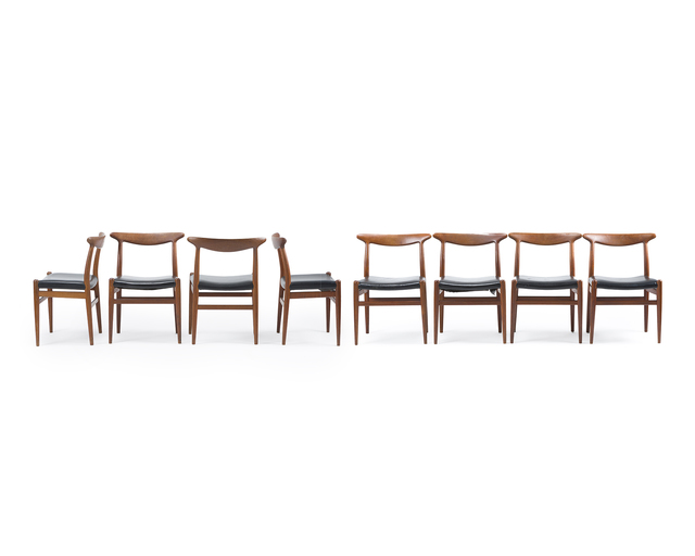 'Eight Hans Wegner model W2 side chairs', John Moran Auctioneers